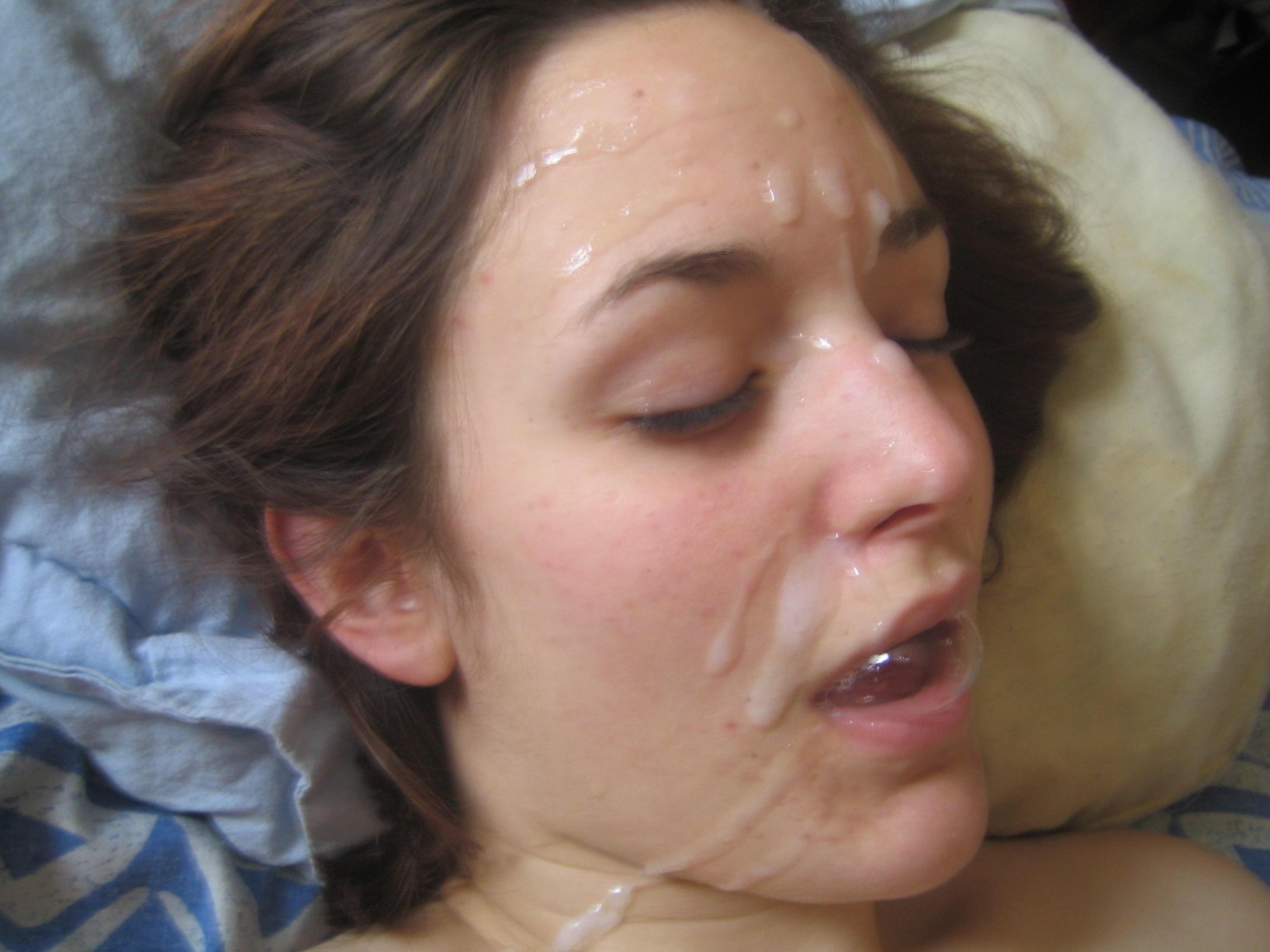 Подборка кончей на лицо